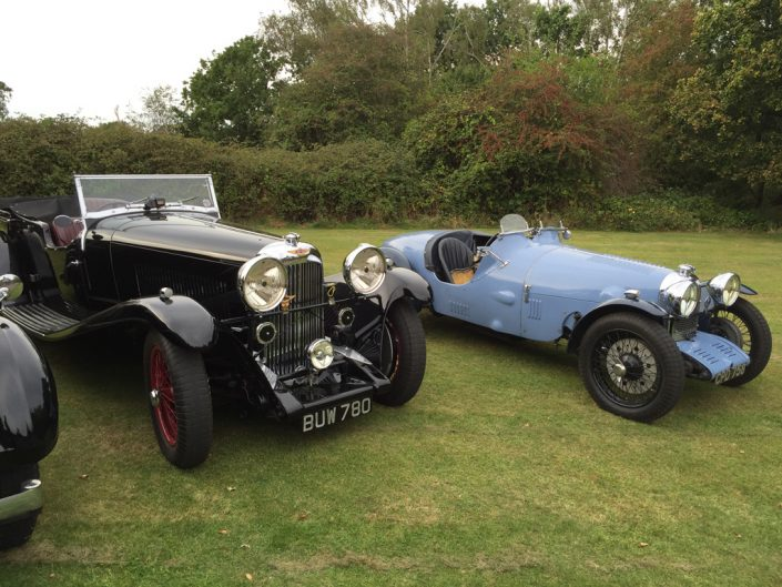 car on the left is a M45 T8 tourer. Car on the right is a Rapier Special